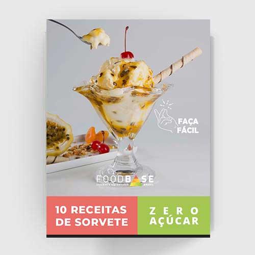 Ebook 10 receitas de sorvete zero açúcar
