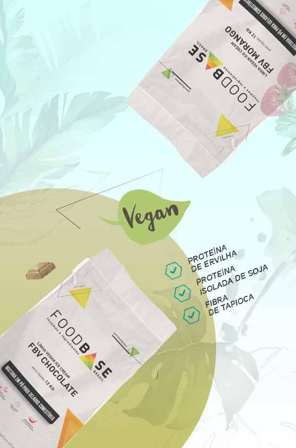 Foodbase - Bases para sorvetes e picolés veganos com proteínas vegetais